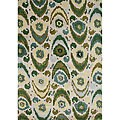Alliyah Handmade Olive Green New Zealand Blend Wool Rug (5 x 8)