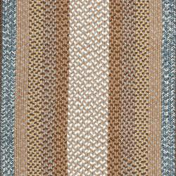 Hand-woven Reversible Brown Braided Rug (9' x 12' Oval)