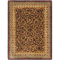 Safavieh Handmade French Aubusson Brown/ Blue Premium Wool Rug (2' x 3')