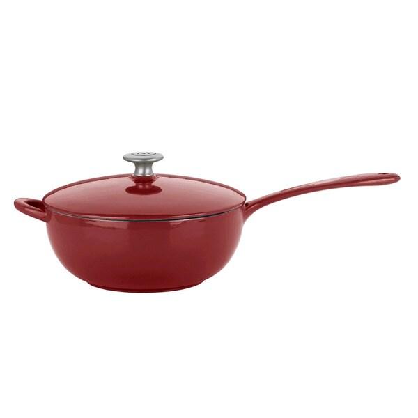 Mario Batali by Dansk Classic Chianti 4-quart Cast Iron Saucier Pan