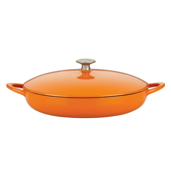 Mario Batali by Dansk Classic Persimmon 4-quart Cast Iron Braiser
