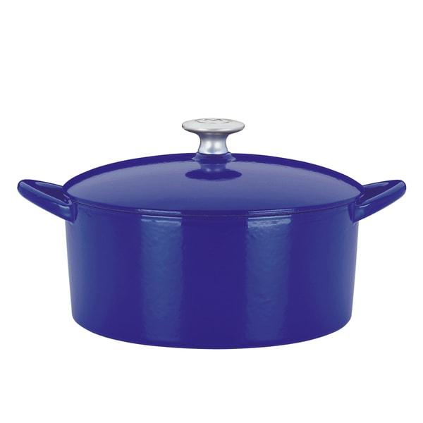 Dansk Blue Cast Iron 6-quart Dutch Oven