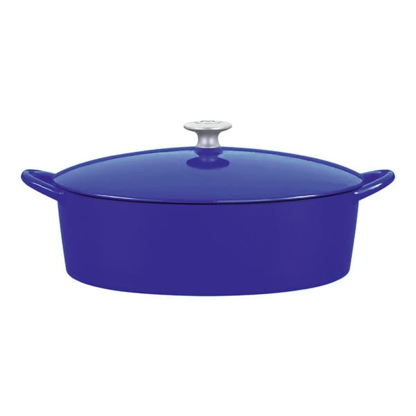 Mario Batali by Dansk Classic Blue 6-quart Oval Cast Iron Dutch Oven