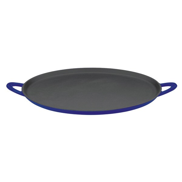 Mario Batali by Dansk Classic Blue 12-inch Cast Iron Pizza Pan/ Griddle