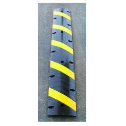 Equicross Reflective Rubber Six-foot Speed Bump with Channeled Bottom