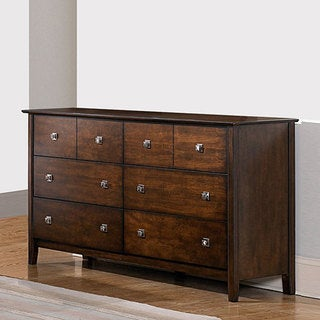 Nurmes Warm Cherry Transitional 6-drawer Dresser
