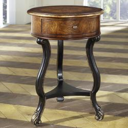 Hand-painted Distressed Chestnut Finish Accent Table