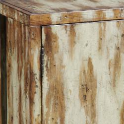 Hand-painted Distressed Natural Cream Accent Chest