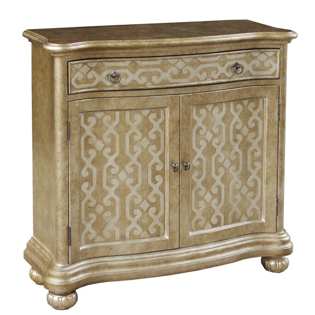 Hand-painted Distressed Gold/ Silver Finish Chest