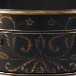 Hand-painted Black/ Gold Accent Chest