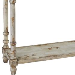 Distressed Natural Cream Accent Console Table