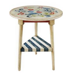 Hand-painted Distressed Vintage Ivory Table