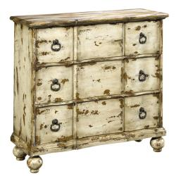 Hand-painted Distressed Antique Ivory Chest