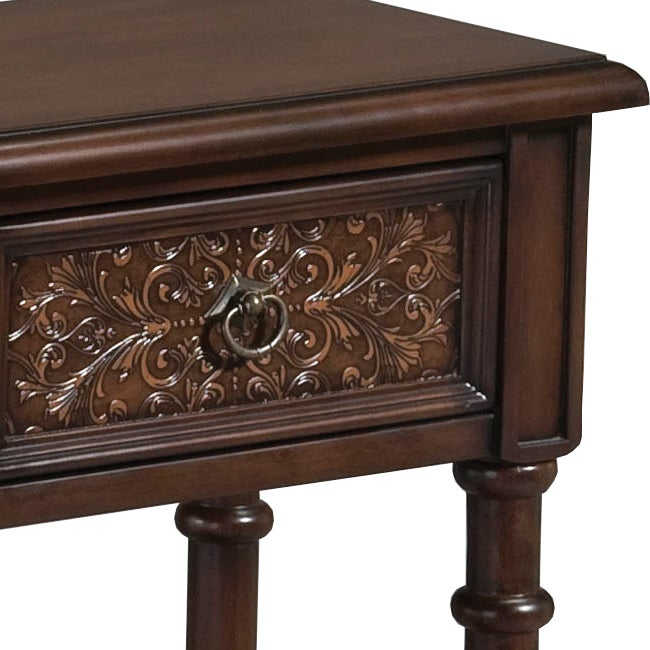 Walnut Brown Accent Console Table