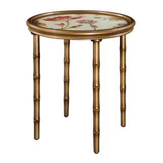 Floral Gold Accent Table