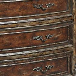 Hand-painted Distressed Brown Chest