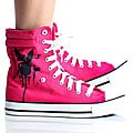 Playboy by Beston Women's Pink High-top Sneakers