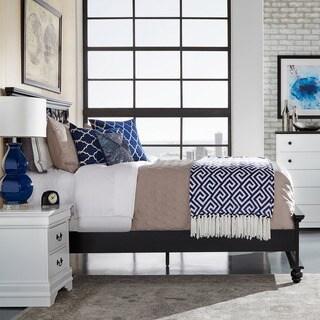 IQ KIDS Piston Black Modern Cottage Queen-size Low Profile Bed