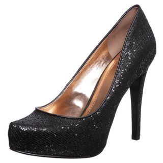 BCBGeneration 'Parade' Black Glitter Pointed Pumps