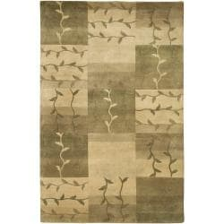 Hand-Knotted Multicolored La Crosse Semi-Worsted New Zealand Wool Area Rug (5' x 8')