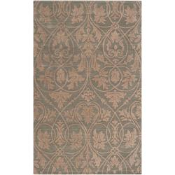 Abstract Transitional Woven Tan Carron Bay Wool and Nylon Rug (5' x 7'6)