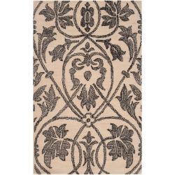 Woven Beige Carron Bay Wool and Nylon Rug (8' x 10')