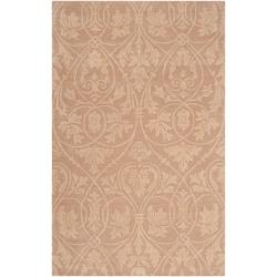 Woven Tan Carron Bay Wool and Nylon Rug (5' x 7'6)