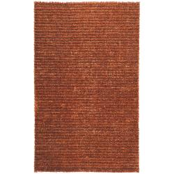 Hand-woven Red La Crosse Jute Blend Shag Rug (8' x 10')