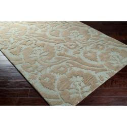 Transitional Hand-Tufted Gray Garavogue New Zealand Wool Rug (9' x 13')