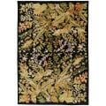 Hand-knotted Multicolored La Crosse Geometric Semi-Worsted Wool Floral Rug (5' x 8')
