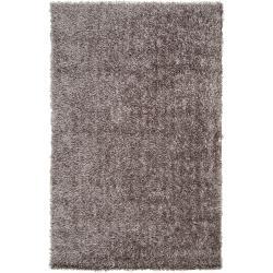 Handwoven Grey Ferta Soft Shag Area Rug (5' x 8')