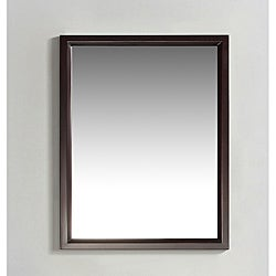 Oxford 22 x 30 Espresso Brown Vanity Decor Mirror