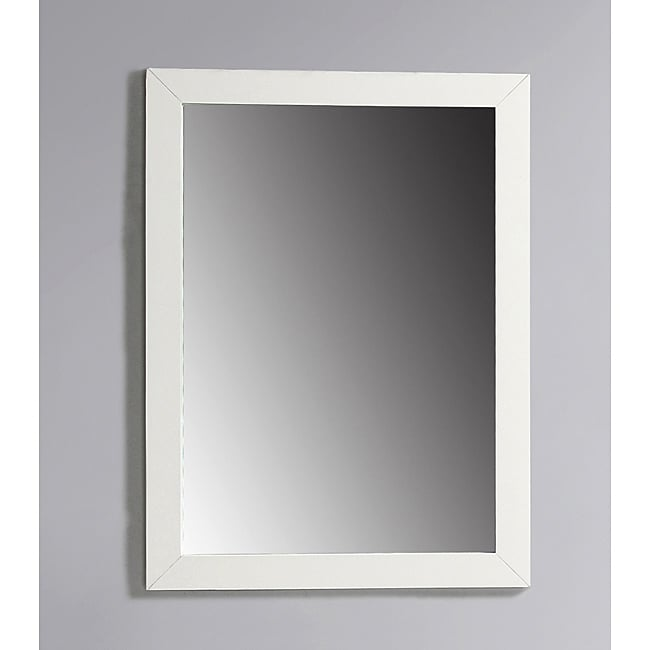 White Framed Bath Vanity Mirror Pictures to pin on Pinterest