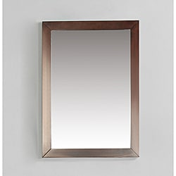 New Haven 22 x 30 Walnut Brown Bath Vanity Decor Mirror