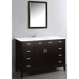 Oxford Dark Espresso Brown 48-inch Bathroom Vanity