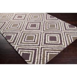 Hand-tufted Olive New York Ave Geometric Diamond Wool Rug (8' x 11')