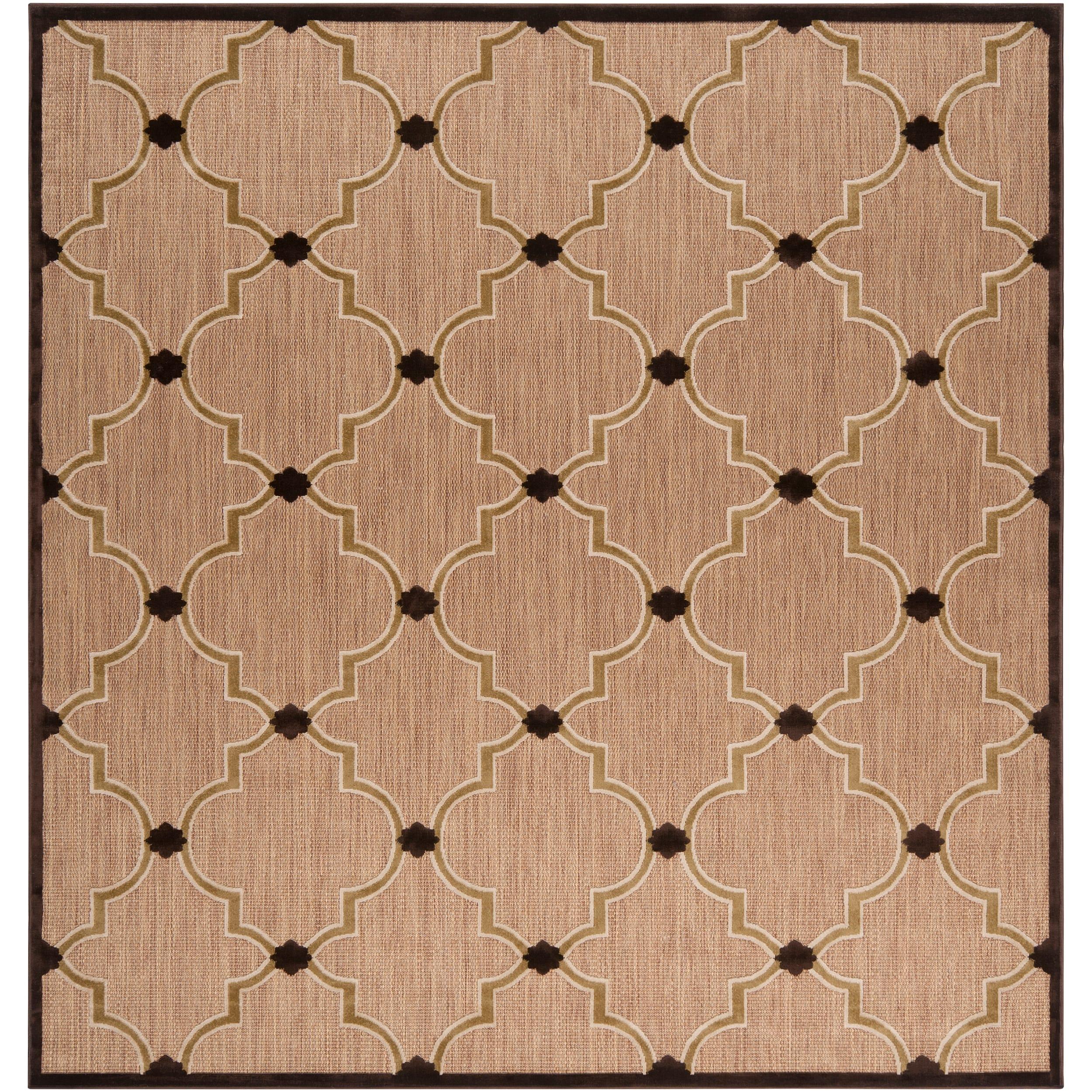 Woven Tan Cladagh Indoor Outdoor Moroccan Geometric