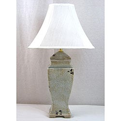 Porcelain 1 light Table Lamp in Distressed Grey