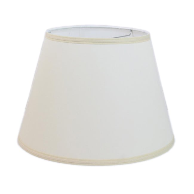 off white linen hardback modified drum lamp shade with self trim. Black Bedroom Furniture Sets. Home Design Ideas
