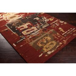 Hand-Tufted  Rancick Abstract Pattern Casual Wool Rug (8' x 11')