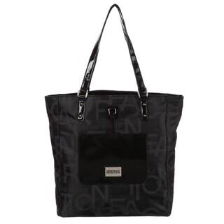 Kenneth Cole Reaction Black Signature Tote Handbag