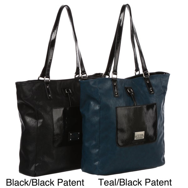 Kenneth Cole Reaction Colorblock Patent Tote Bag