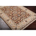 Hand-knotted Brown Sonmiac New Zealand Wool Rug (4' x 6')
