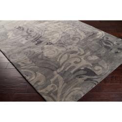 Hand-tufted Black Streetview New Zealand Wool Rug (5' x 8')