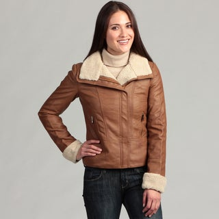 Collezione Italia Women's Plus Faux Leather Jacket