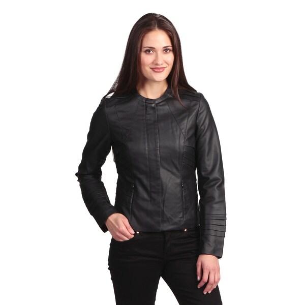 Collezione Italia Women's Faux Leather Jacket