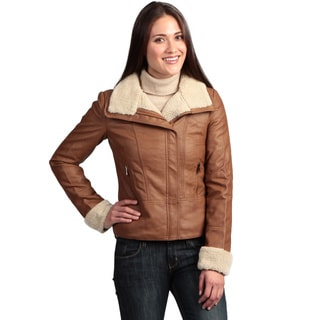 Collezione Women's Faux Leather Jacket