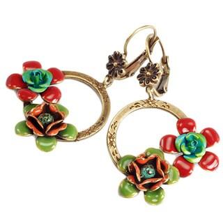 Sweet Romance Enamel Flower Earrings