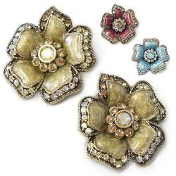 Sweet Romance Wild Roses Clip-On Earrings