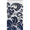 Handpainted Black and White Floral Indoor Bamboo Curtain (Vietnam)